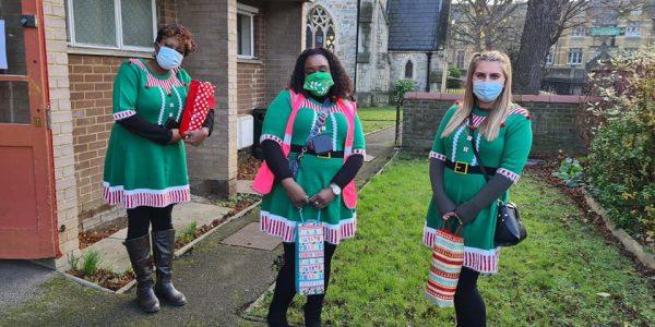 Morrisons elves outside